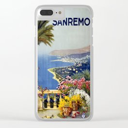 Vintage Post Card 1920 San Remo Clear iPhone Case