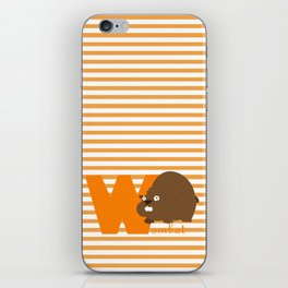 w for wombat iPhone Skin