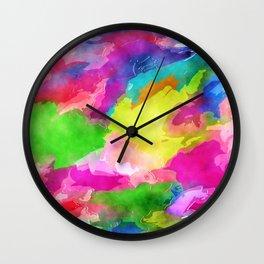 Watercolor Ink Abstract Wall Clock