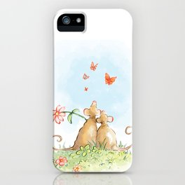 Two Mice In Love iPhone Case