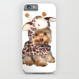 Yorkie in Giraffe Costume | Dogs iPhone Case