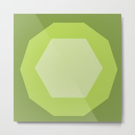 Green Shapes Metal Print