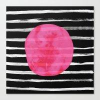 dot Canvas Prints featuring Dot by Elisabeth Fredriksson