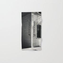 Coffee Print Vertical Black and White poster print Hand & Bath Towel