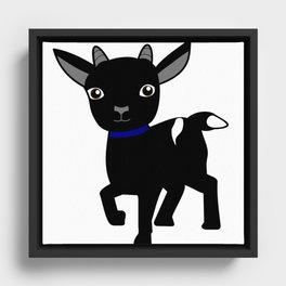 Micky the Goat Framed Canvas