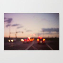 highway at dusk Canvas Print