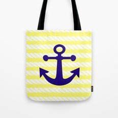 Blue Anchor with Yellow Ropes Tote Bag