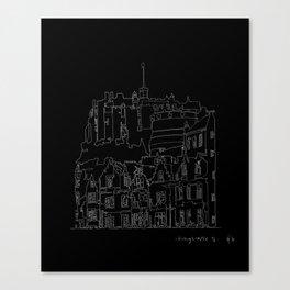 Edinburgh Castle in one continuous line Canvas Print