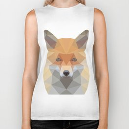 Fox Abstract Low Poly Biker Tank