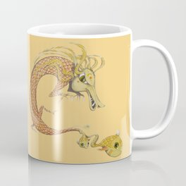 Dragon with fish Coffee Mug