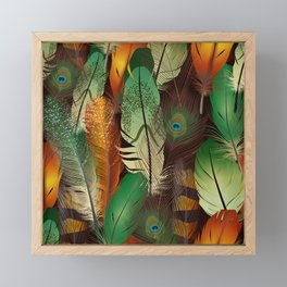 Autumn Peacock Framed Mini Art Print