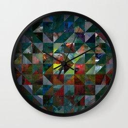 Colour Crystallization Wall Clock