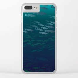 Fish Under The Storm Clear iPhone Case