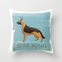 german Throw Pillows featuring German Shepherd by 52 Dogs
