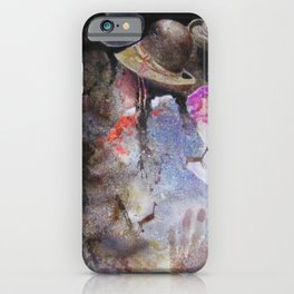 Traditionally dressed Quechua women of Puno, Peru portrait watercolor by Javier Rodriguez iPhone Case