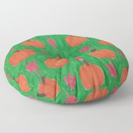 Green Pumpkin Patch Floor Pillow
