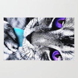 Purple eyes Cat Rug