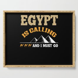 Egypt Vacation Serving Tray
