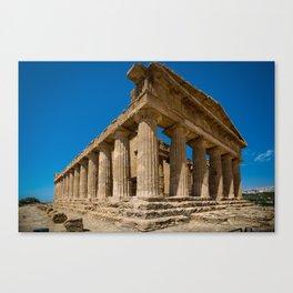 landscape ruined temple Canvas Print