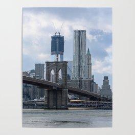 Freedom Tower Brooklyn Bridge 2012 Poster