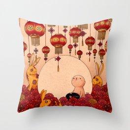 Mid Autumn Festival Throw Pillow