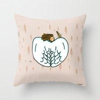 virgo Throw Pillows featuring Virgo by Giuseppe Lentini