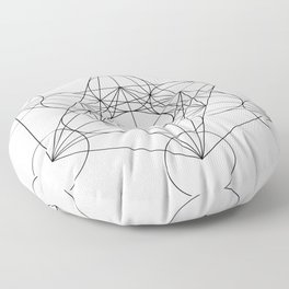 Sacred Geometry : Metatron's Cube / The Map of Creation Floor Pillow
