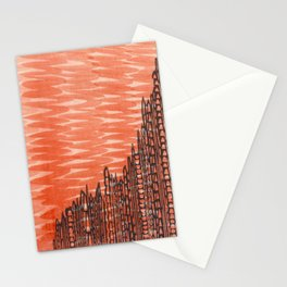 Clementine ZigZag Stationery Cards