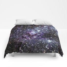 The Eagle Nebula : Pillars of Creation Deep Dark Blues & Purples Comforters