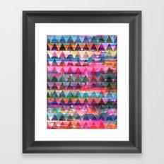 Kiana Triangle Framed Art Print