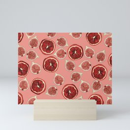 Figs - Pomegranate - coral Mini Art Print