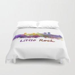 Little Rock skyline in watercolor Duvet Cover