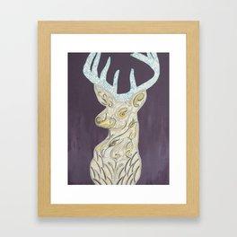 deer olive Framed Art Print