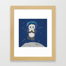 Astro yoga panda Framed Art Print