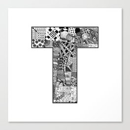 Cutout Letter T Canvas Print