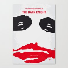No245 My Dark minimal Knight movie poster Canvas Print