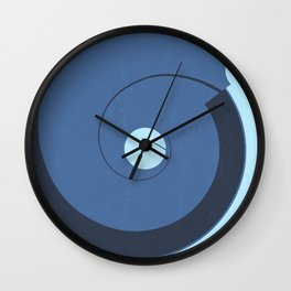 Abstract Shapes Blue Color Scheme Wall Clock