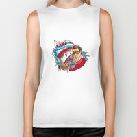 jaws Biker Tanks featuring Jaws  by Christopher Chouinard