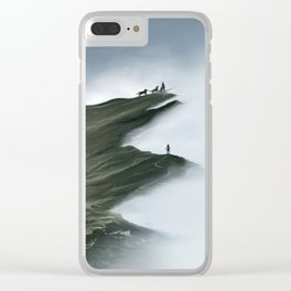 Foggy Landscape Digital Painting Clear iPhone Case