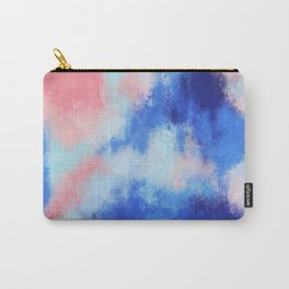 Spring vibes: pink & blue abstract Carry-All Pouch