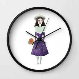 Universe in Lady Wall Clock