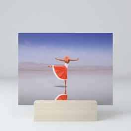 Ballerina Dancing On The Beach Mini Art Print