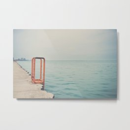 the orange steps ... Metal Print