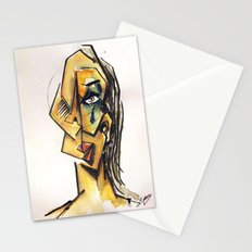 Crying woman Stationery Cards
