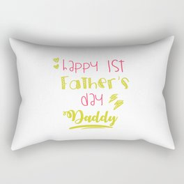 First Fathers Day Best Dad Saying Daughter Gift Rectangular Pillow