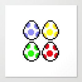Minimalist Yoshi Eggs Canvas Print