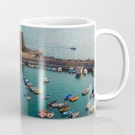 Golden Hour Boats in Cinque Terre Coffee Mug