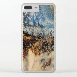 Copper Blue Serenade Clear iPhone Case
