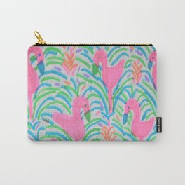Flamingo Jungle Party Print Carry-All Pouch