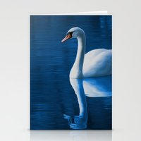 swan Stationery Cards featuring Swan by Spooky Dooky